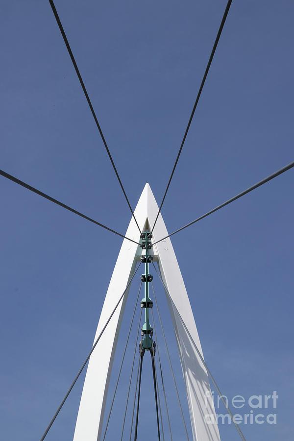 Bridge Photograph - Pylon From Below by Nicki Hoffman
