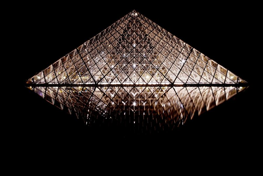 Pyramid at the Louvre by Steven Liveoak