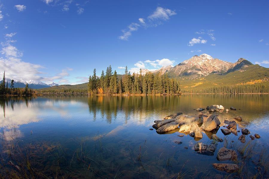 Pyramid Lake Jasper National Park Photograph by Design Pics/carson Ganci