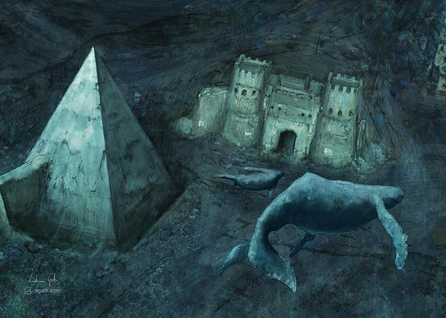 Pyramid Of Cestius Sea Digital Art