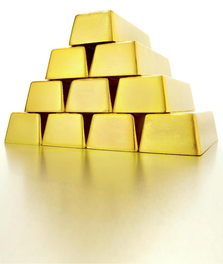 Pyramid Of Gold Bars Photograph by John Kuczala