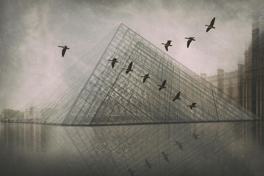Creative Edit Photograph - Pyramid-shaped by Roswitha Schleicher-schwarz