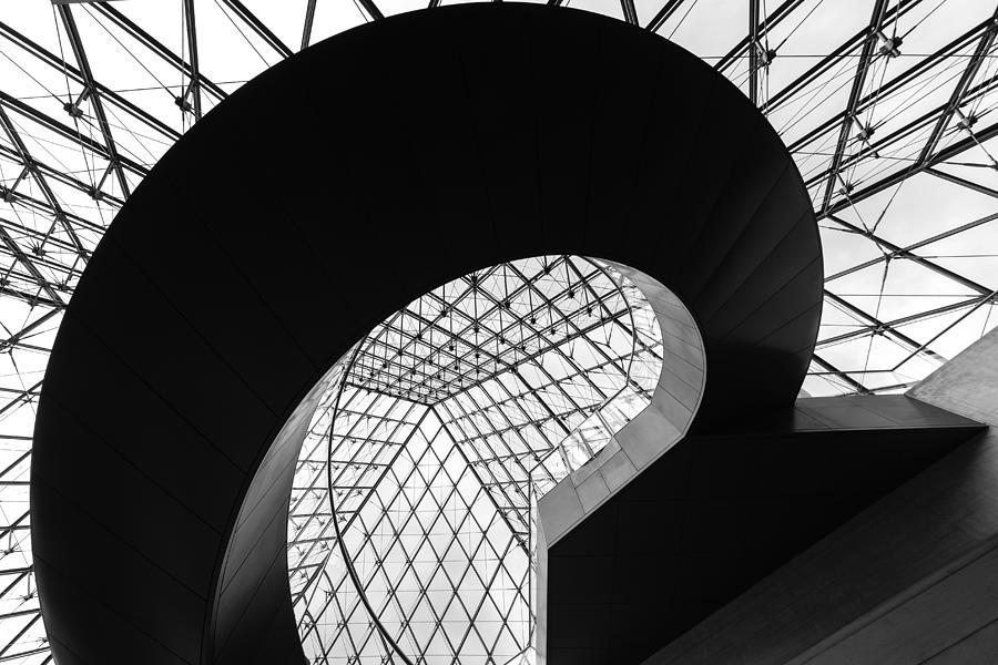 Paris Photograph - Pyramid Stair by Franco Farinati