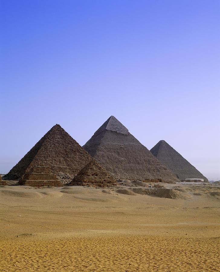Pyramids In Desert Landscape, Close Up Photograph by Stephen Studd