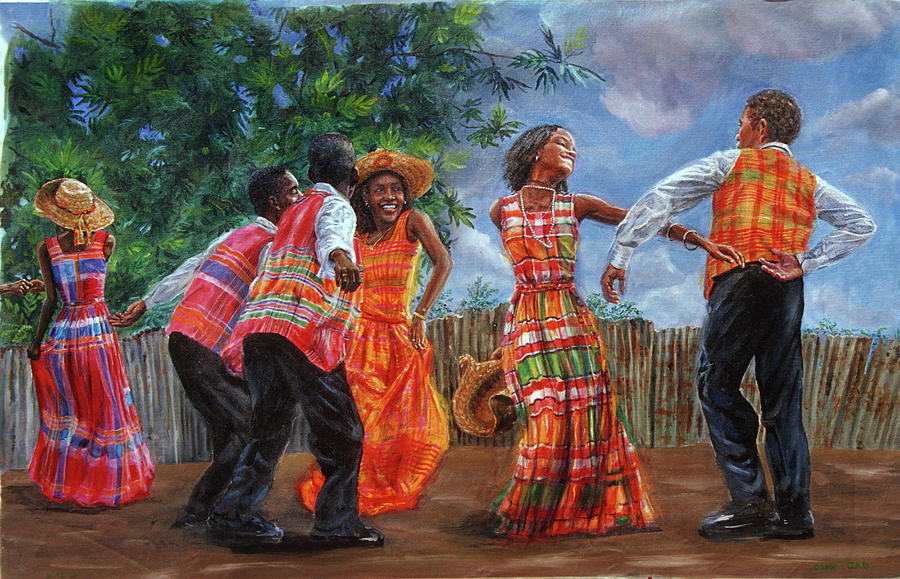 Caribbean Painting - Quadrille by Jonathan Guy-Gladding JAG