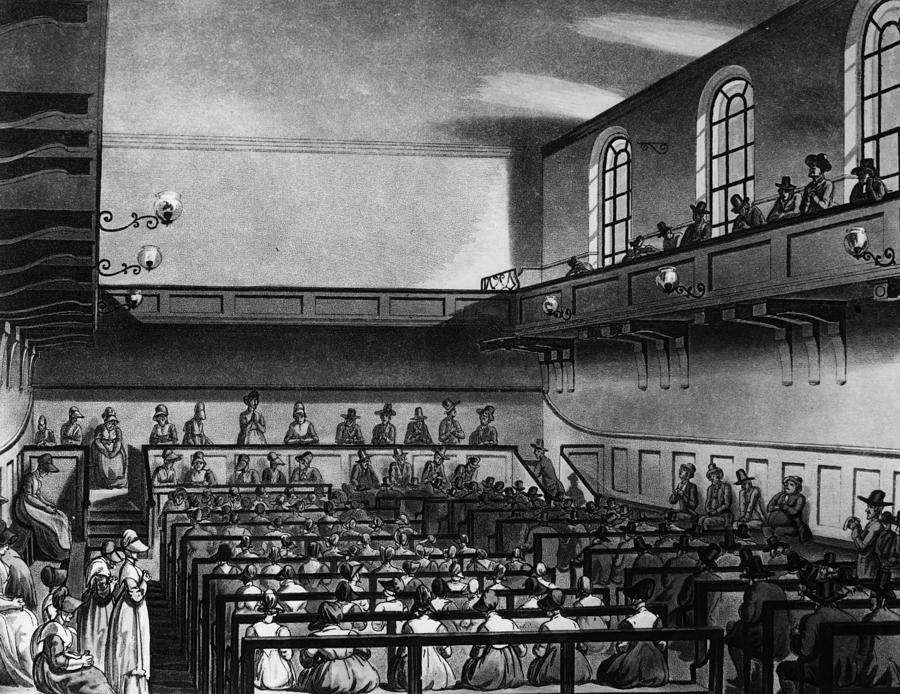 Quakers Meeting Digital Art by Hulton Archive
