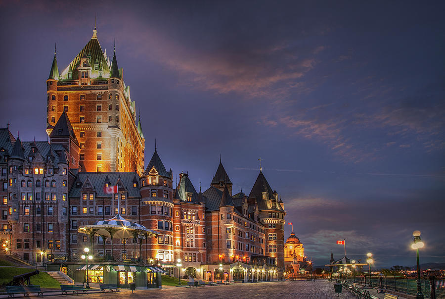 Quebec City, Chateau Frontenac Hotel Photograph by Buena Vista Images