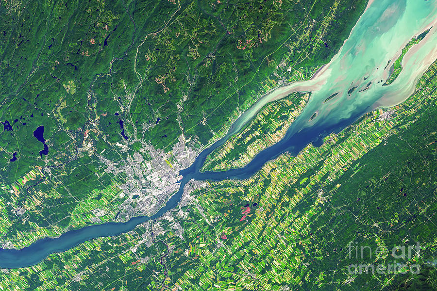 Quebec Photograph - Quebec City From Space by Courtesy of NASA