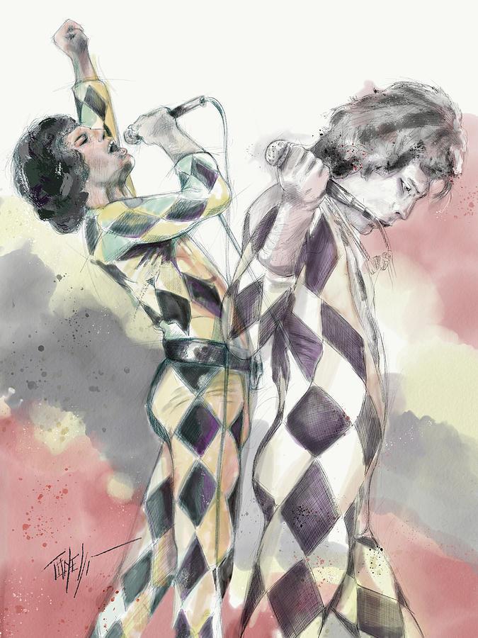 Freddie Mercury Live Mixed Media