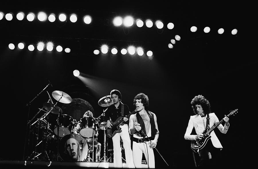 Queen Live In Rotterdam Photograph by Fin Costello