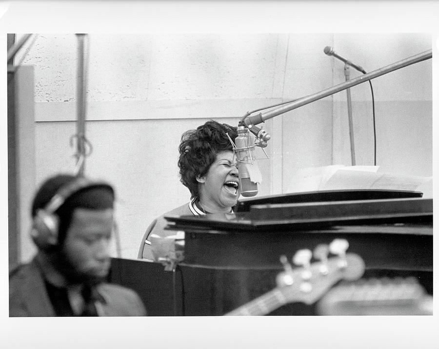 The Weight Photograph - Queen Of Soul Recording In Ny by Michael Ochs Archives