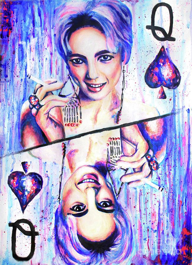 Acrylic Painting Painting - Queen Of Spades by Olesya Umantsiva