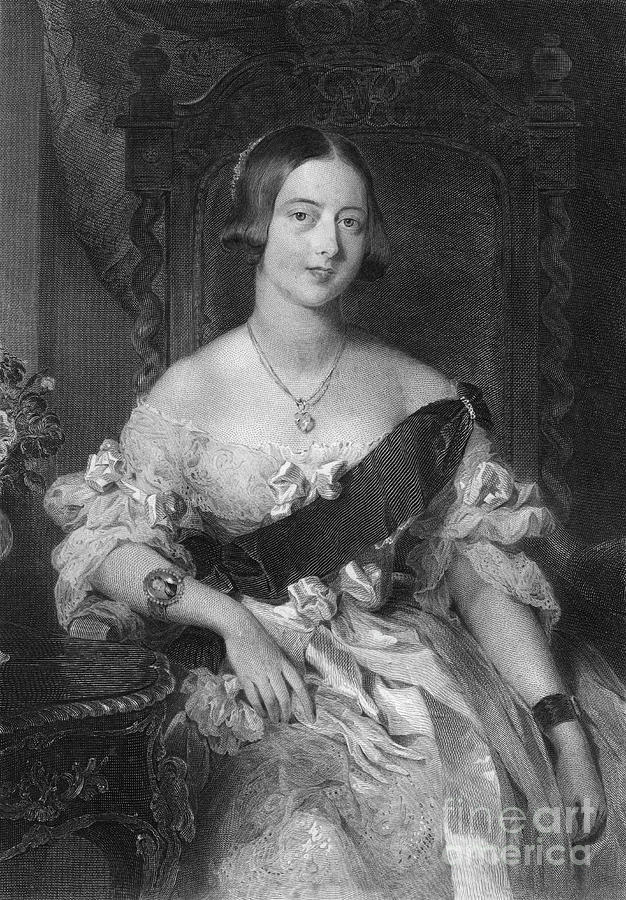 Queen Victoria 1819-1901, 1851.artist Drawing by Print Collector