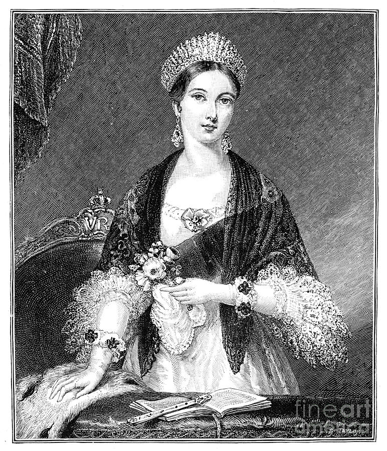 Queen Victoria, 1819-1901, 19th Drawing by Print Collector