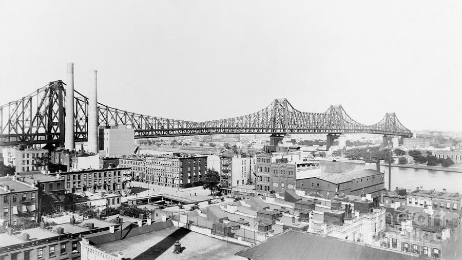 QUEENSBORO BRIDGE, c1908 by Granger