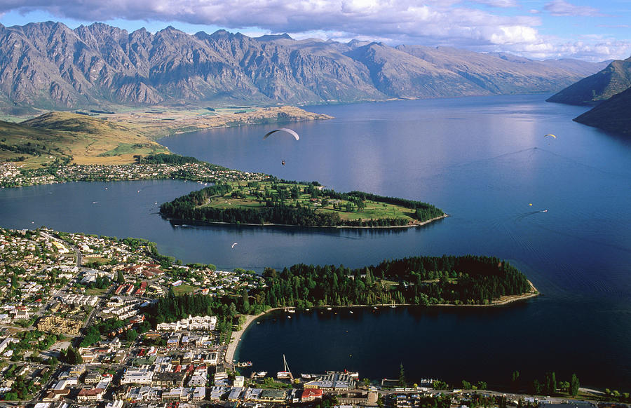 Queenstown Looking Towards The Photograph by Glenn Van Der Knijff