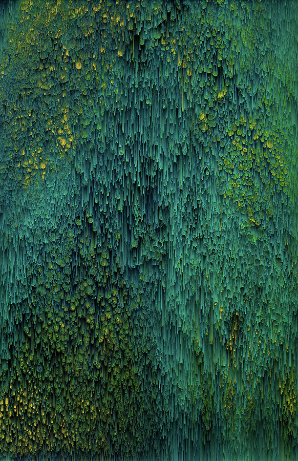 Glitch Digital Art - Quetzalcoatl by Jennifer Walsh