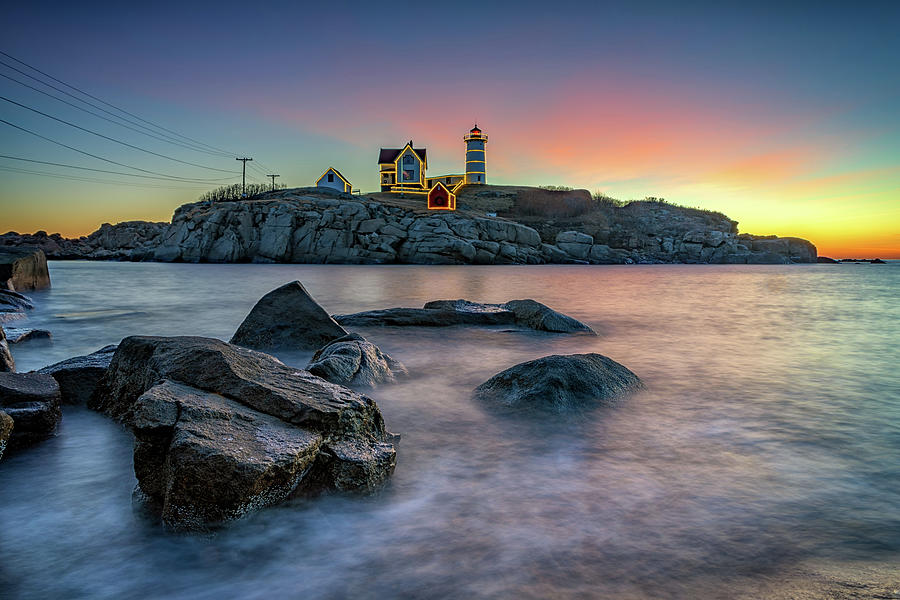 Quiet December Morning at The Nubble by Rick Berk