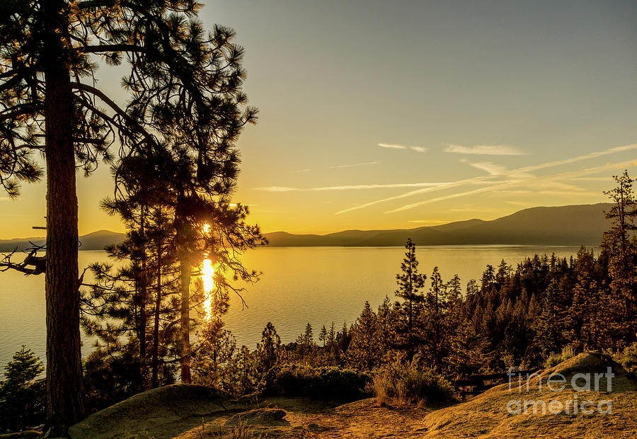Quiet Lake Tahoe by Annerose Walz