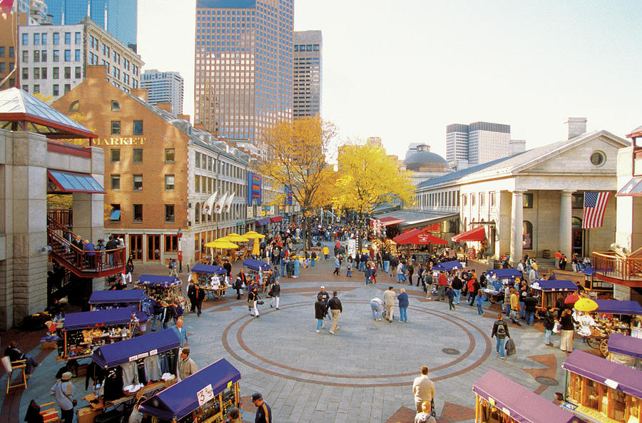 Quincy Market In Boston, Massachusetts Photograph by Medioimages/photodisc