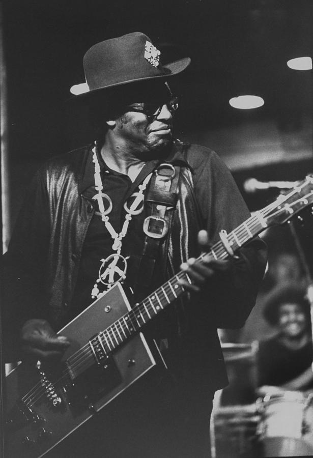 R & B Artist Bo Diddley Playig Guitar Photograph by John Olson
