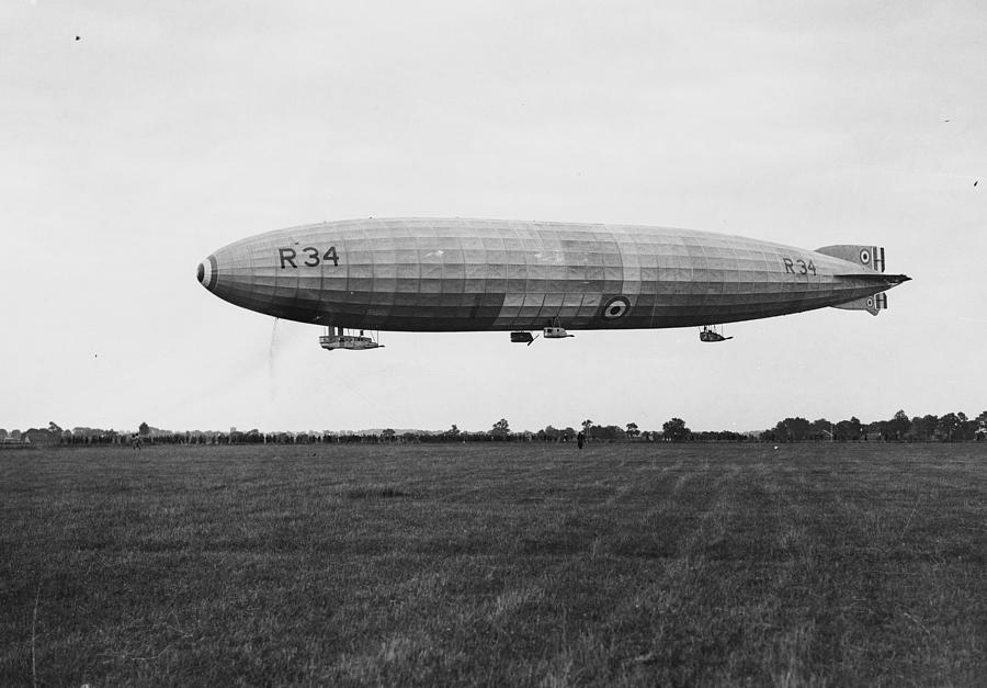 R34 Airship Landing Photograph by Jimmy Sime