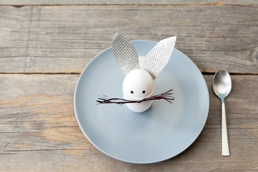 Rabbit Decoration On Plate Photograph by Stefanie Grewel