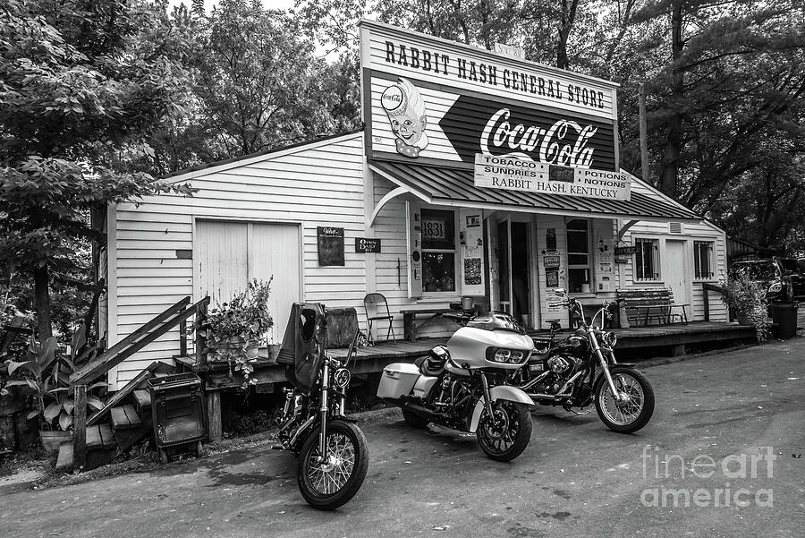 Rabbit Hash Historic General Store - Kentucky - Black and White by Gary Whitton