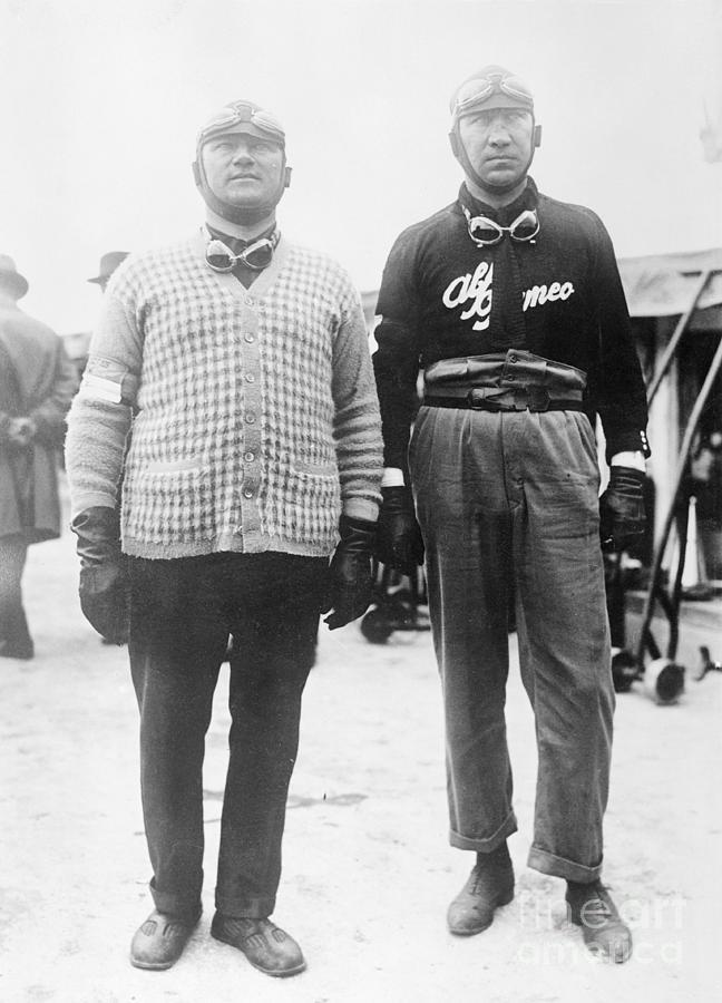 Race Car Drivers Asciari And Peri Photograph by Bettmann