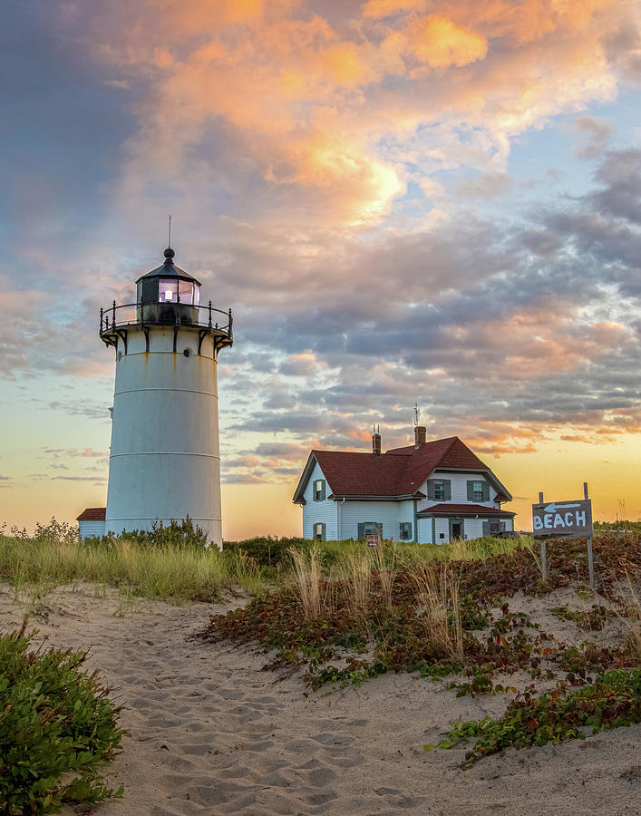 Race Point Lighthouse Photograph by Brian Caldwell