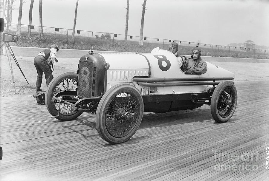 Racecar At Sheepshead Bay Track Photograph by Bettmann