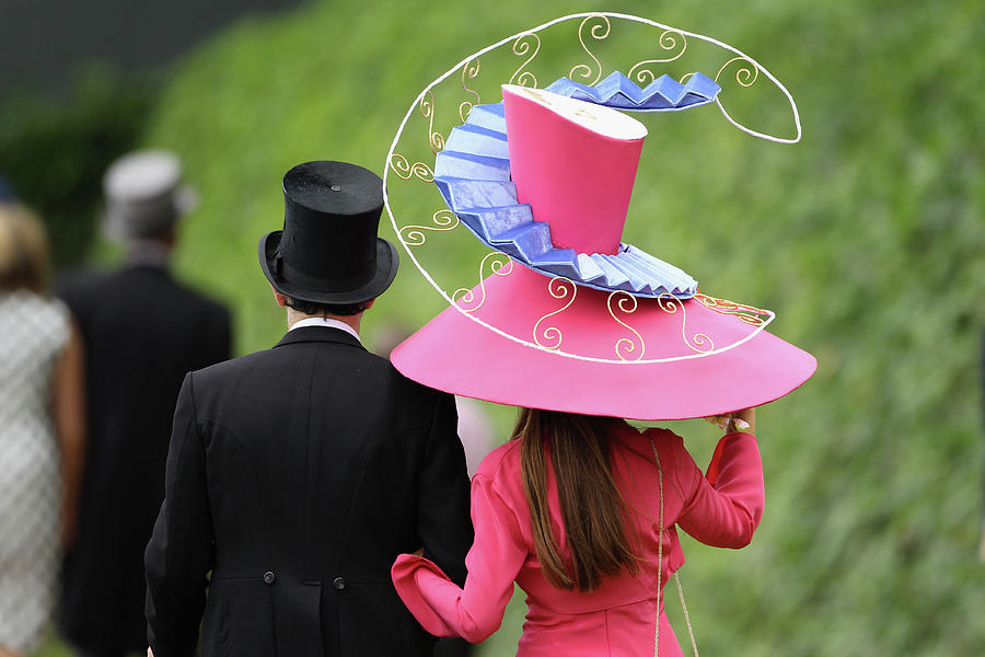 Racegoers Attend Ladies Day At Royal Photograph by Dan Kitwood