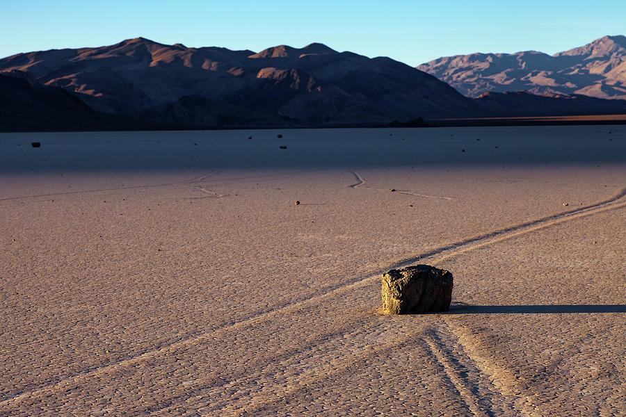 Racetrack Playa Sailing Stones At Dusk Photograph