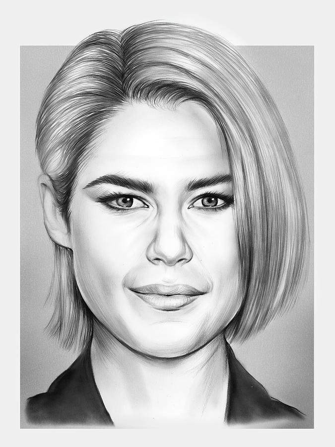 Australian Drawing - Rachael Taylor by Greg Joens