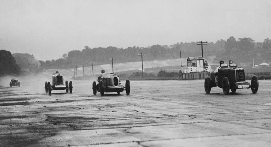 Racing At Brooklands Photograph by E. F. Corcoran