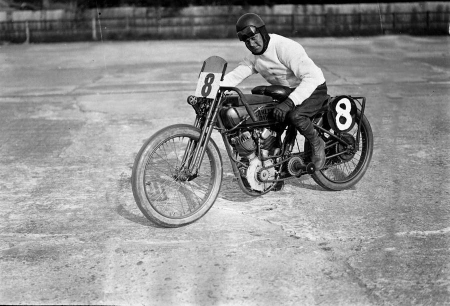 Racing Biker Photograph by Macgregor