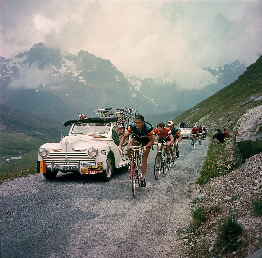 Racing Cyclists Of The Tour De France Photograph by Keystone-france