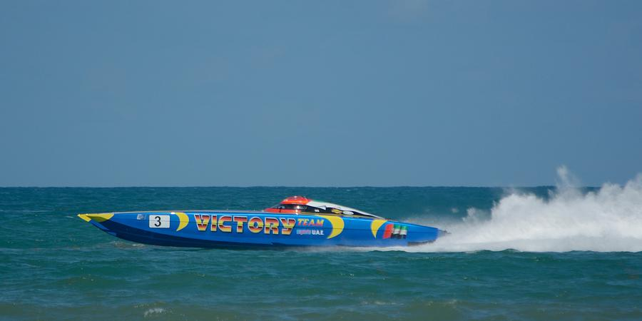 Racing Power Boat Victory by Bradford Martin