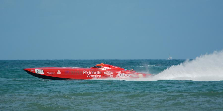 Racing Power Boat Zabo 91 by Bradford Martin