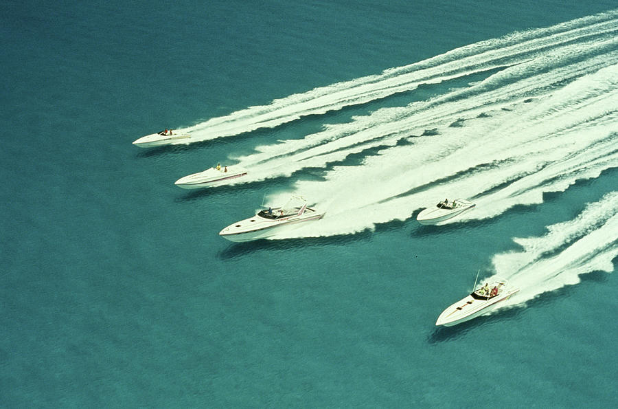 Racing Speedboats Photograph by Robert Holland