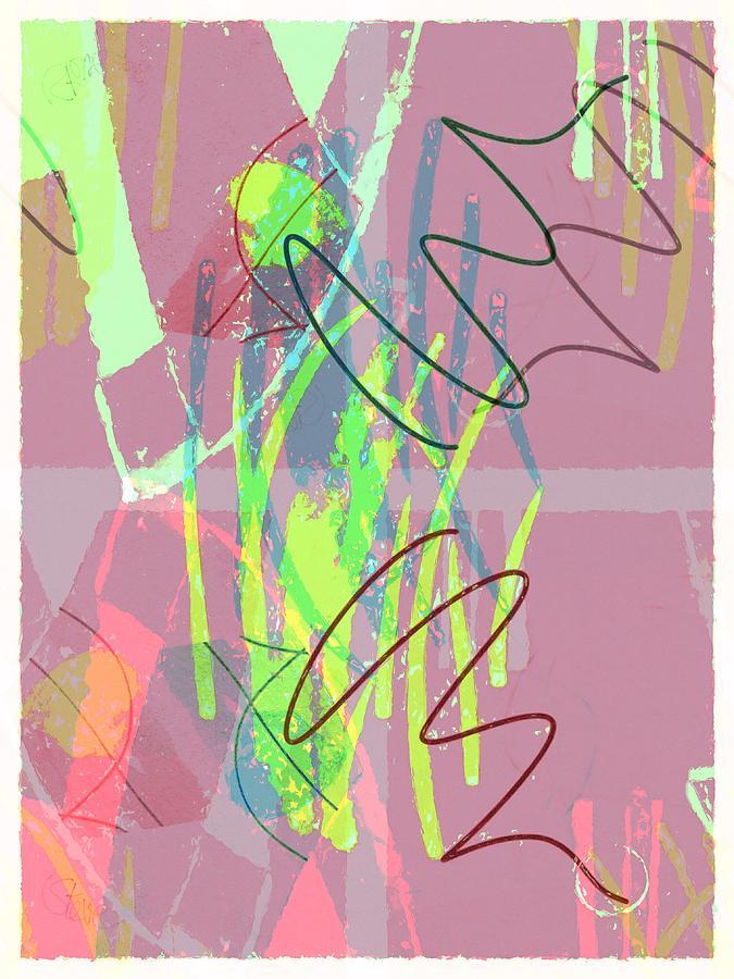 Abstract Painting - Radar Love by Steve K
