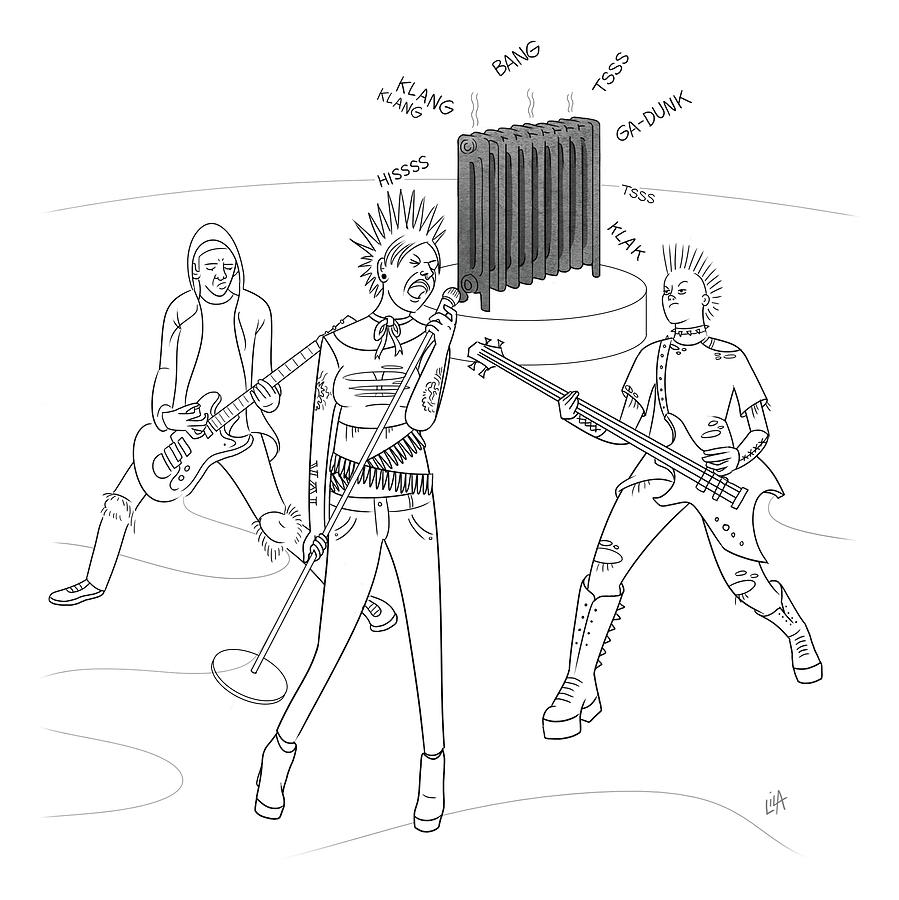 Radiator Band Drawing by Lila Ash