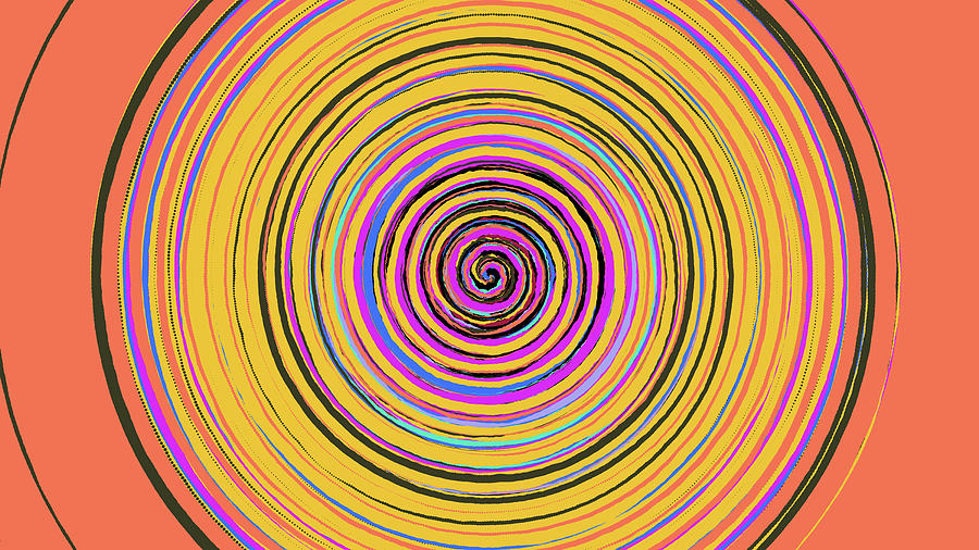 Radical Digital Art - Radical Spiral 19023 by REVAD David Riley
