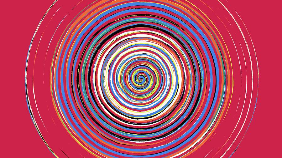 Radical Digital Art - Radical Spiral 19044 by REVAD David Riley