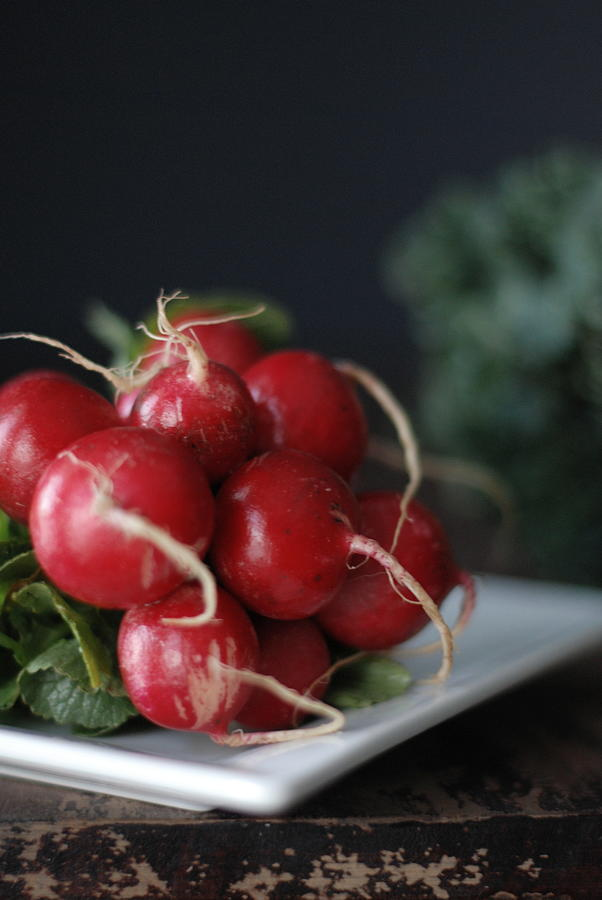 Radishes And Kale Photograph by Shawna Lemay