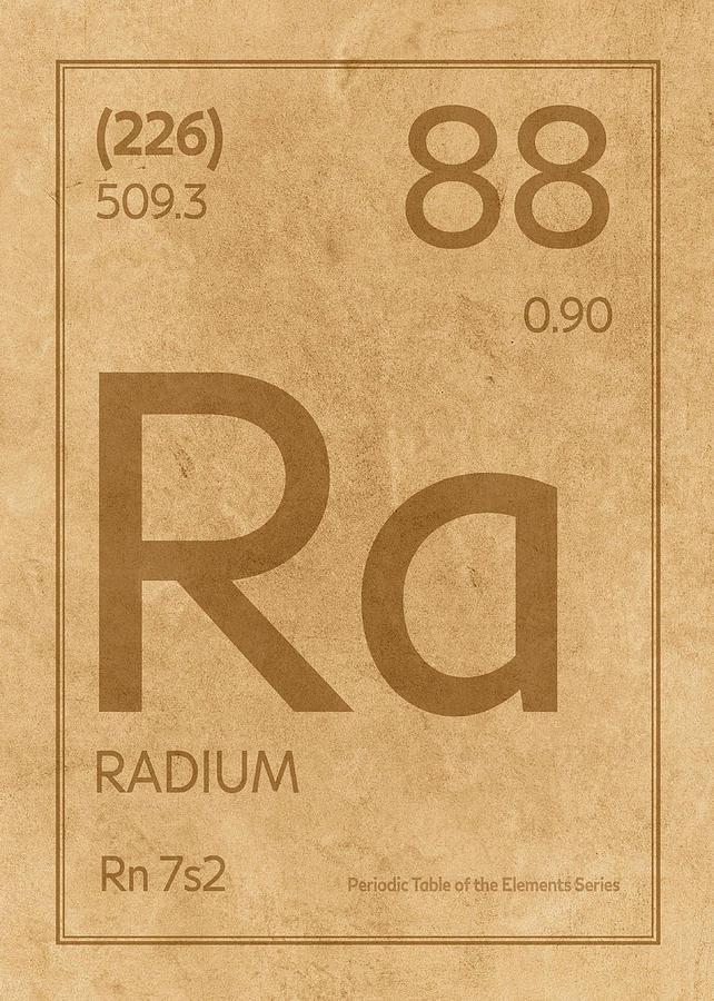 Radium Element Symbol Periodic Table Series 088 Mixed Media By