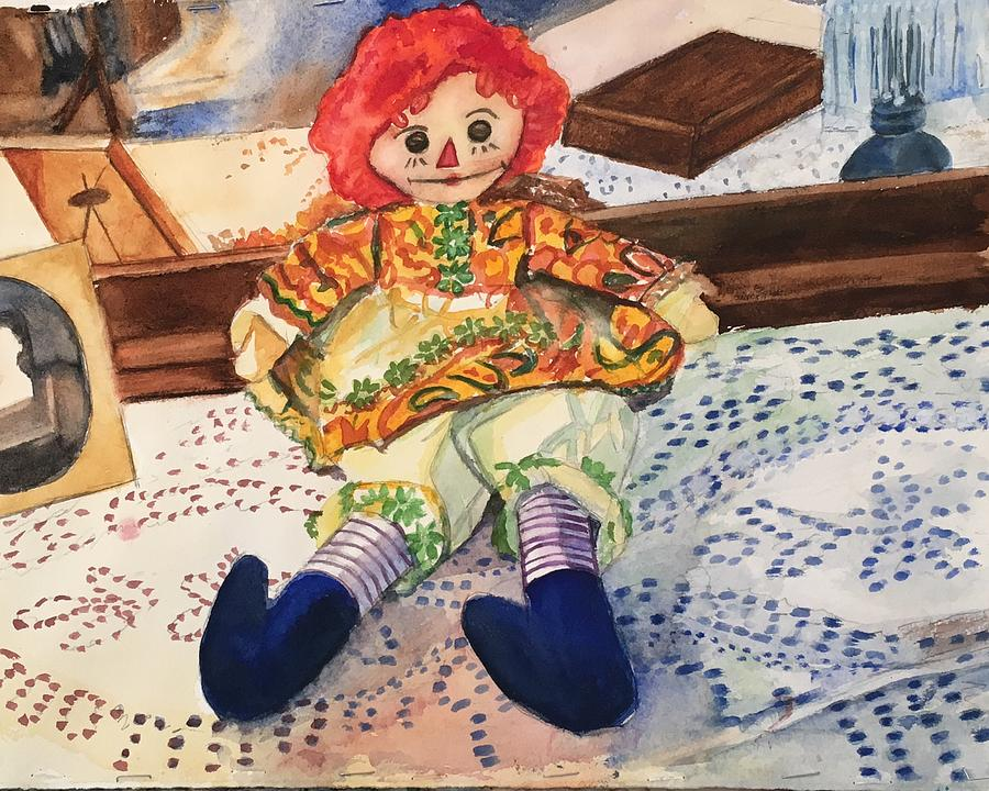 Toy Painting - Raggedy Annie by Lynne Atwood