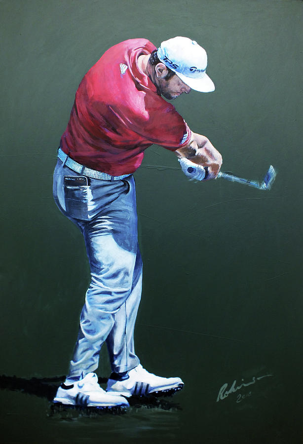 Ryder Cup Painting -  Rahm At Ballyliffin by Mark Robinson
