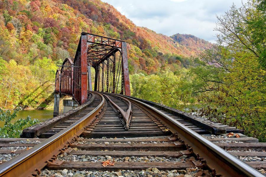 Railroad Photograph - Rail Bridge by Marcia Colelli