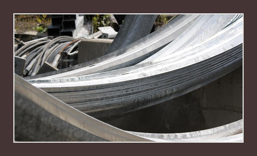 Abstract Photograph - Rail Curves by David Wilde